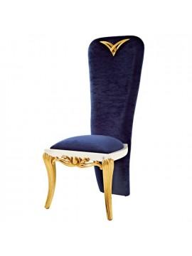 Chaise bleue queue de pie 1900