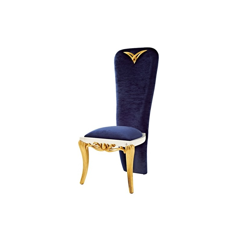 chaise de luxe bleue queue de pie 1900. Black Bedroom Furniture Sets. Home Design Ideas