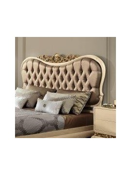 lit adulte 2 personnes ivoire luxe or et argent. Black Bedroom Furniture Sets. Home Design Ideas