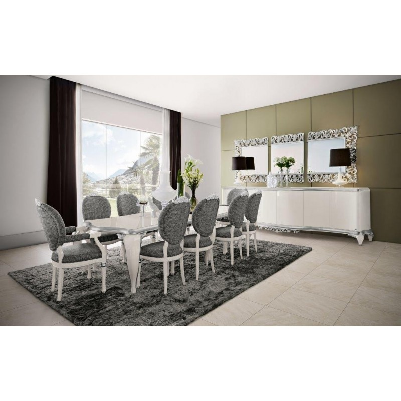 salle manger argent venize 1 miroir triptique. Black Bedroom Furniture Sets. Home Design Ideas