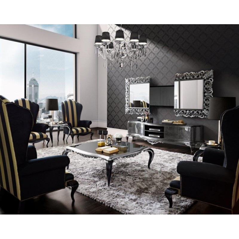 meubles de salon de luxe et miroir tv int gr e venize. Black Bedroom Furniture Sets. Home Design Ideas