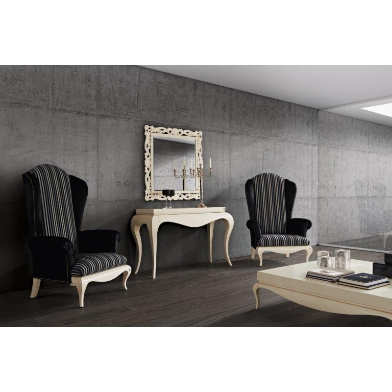 console de luxe miroir et fauteuil salon. Black Bedroom Furniture Sets. Home Design Ideas
