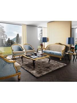 Salon Or Bleu Venize Meuble de luxe