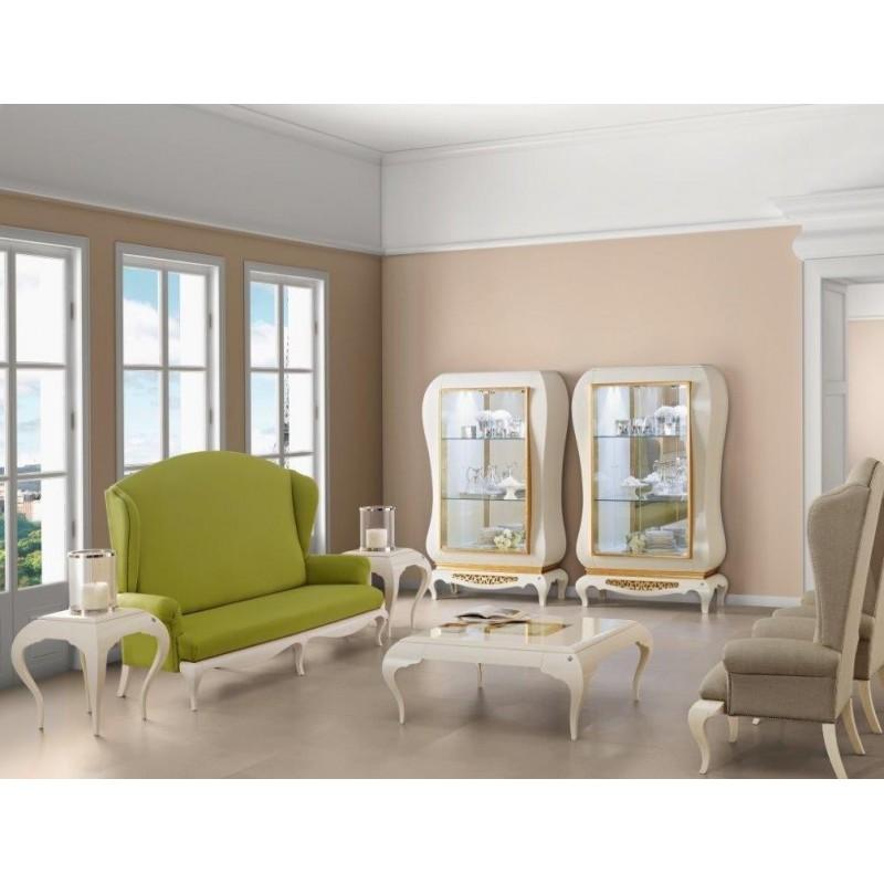 meuble tv avec vitrine de luxe canap tissu 2 places. Black Bedroom Furniture Sets. Home Design Ideas