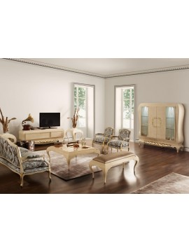 Salon Ivoire Or Eiffel meuble de luxe