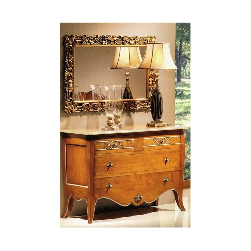 commode antiquaire 4 tiroirs en ch ne massif cambo et miroir meuble de chambre adulte. Black Bedroom Furniture Sets. Home Design Ideas