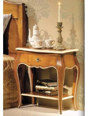 table de chevet antiquaire 1 tiroir 1 tag re cambo. Black Bedroom Furniture Sets. Home Design Ideas