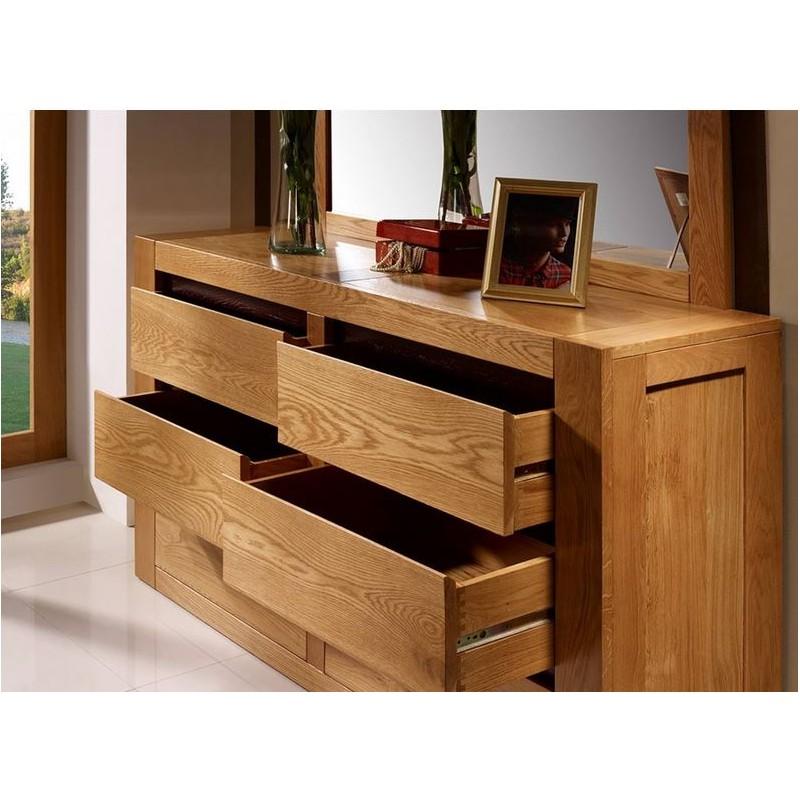 commode en ch ne 6 tiroirs viana. Black Bedroom Furniture Sets. Home Design Ideas