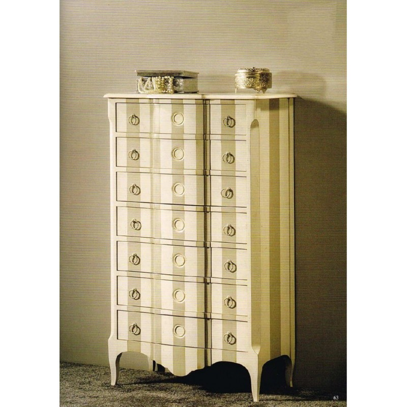 chiffonnier commode antiquaire 7 tiroirs blanche jammes meuble de chambre adulte. Black Bedroom Furniture Sets. Home Design Ideas
