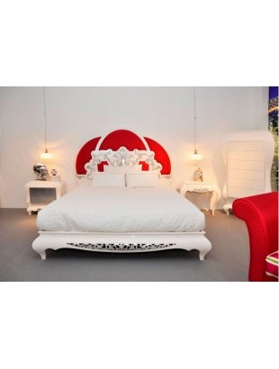lit et t te de lit de luxe rouge 2 personnes eiffel. Black Bedroom Furniture Sets. Home Design Ideas