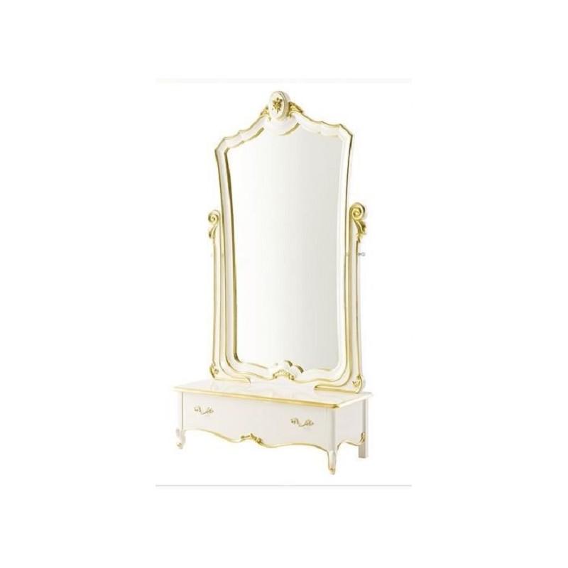 Miroir de luxe sur pied glamour Miroir de chambre sur pied