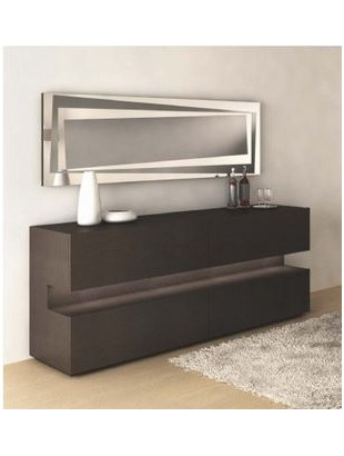 buffet design moka luz et un miroir. Black Bedroom Furniture Sets. Home Design Ideas