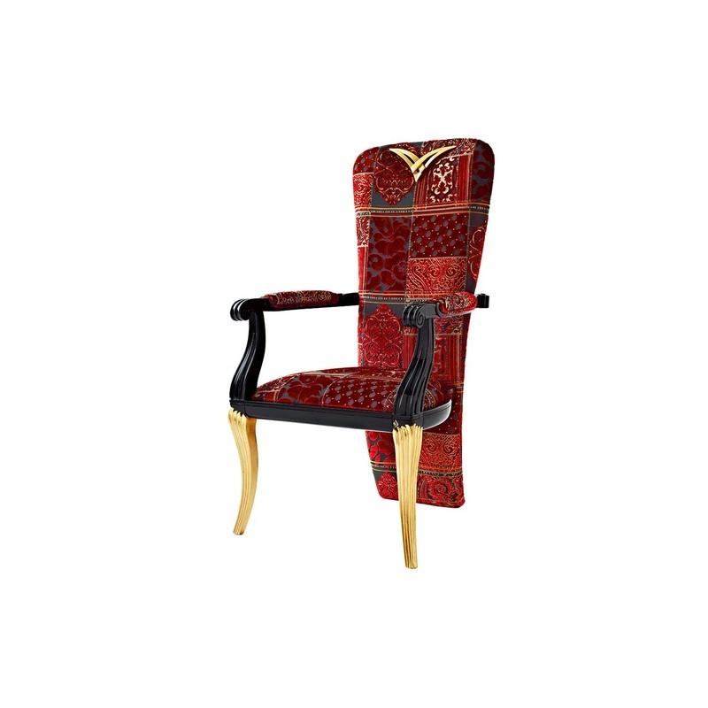 fauteuil de luxe noir tissu rouge 1900. Black Bedroom Furniture Sets. Home Design Ideas