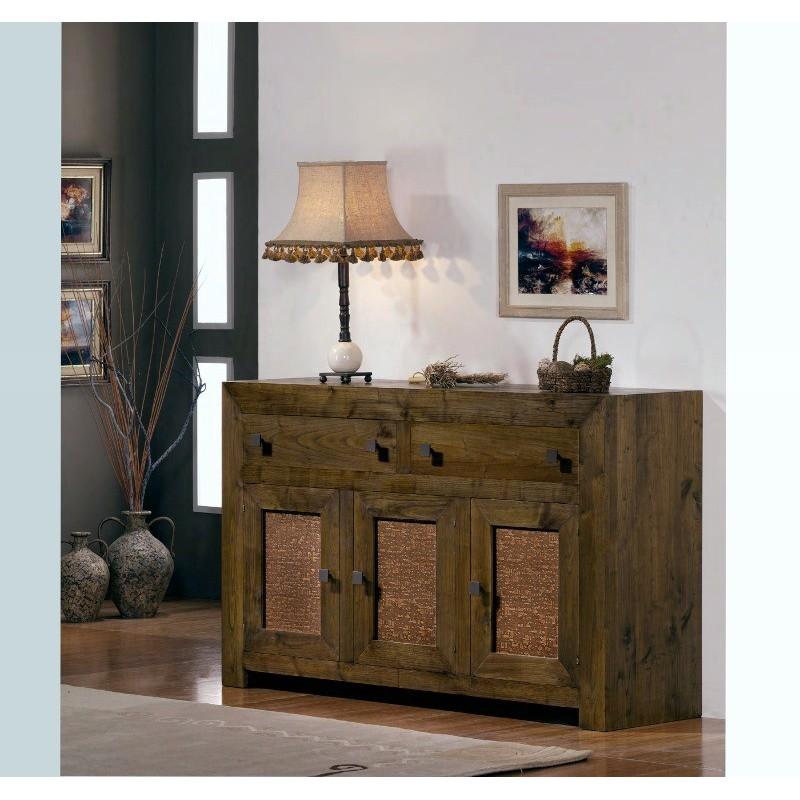 Buffet en ch ne 3 portes 2 tiroirs ariana rugosa meuble de for Meuble salle a manger 3 portes