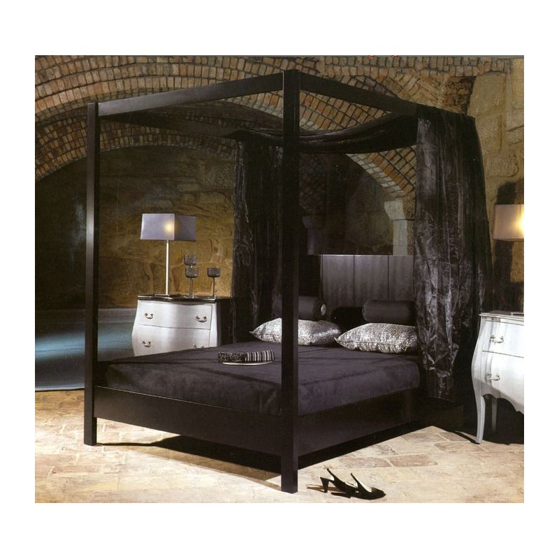 lit baldaquin blanc de luxe 2 personnes. Black Bedroom Furniture Sets. Home Design Ideas
