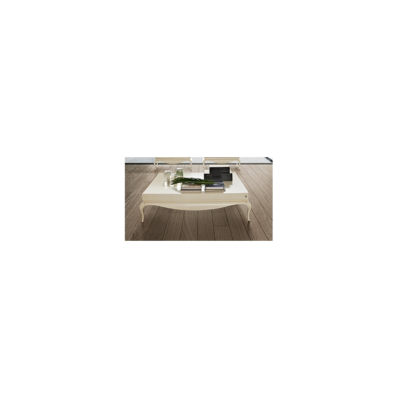 Table basse de luxe carr e ou rectangulaire blanche - Table basse luxe design ...
