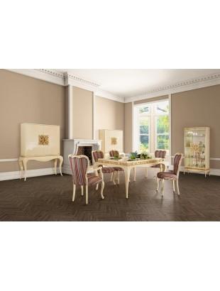 Salle manger de luxe meuble bar ivoire for Salle a manger de luxe