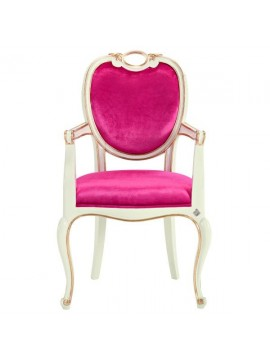 Chaise rose Glamour