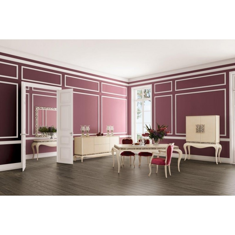 salle manger de luxe feuille d 39 argent avec bar. Black Bedroom Furniture Sets. Home Design Ideas