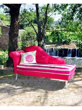 Chaise Longue Luxe Fushia