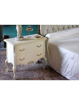 chambre adulte de luxe or bleu glamour commode et chevet. Black Bedroom Furniture Sets. Home Design Ideas