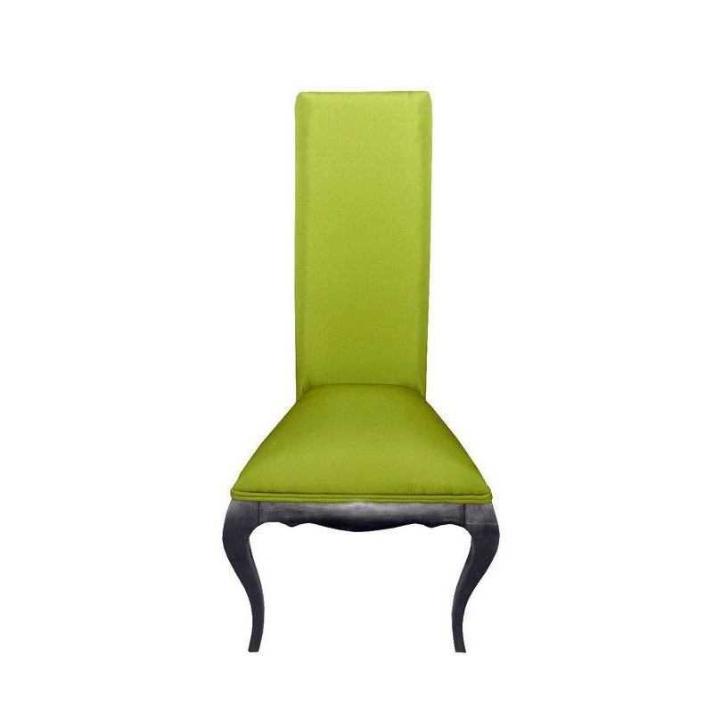 Chaise de luxe tissu vert eiffel for Chaise quercus