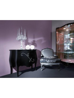 commode baroque de luxe 2 ou 3 tiroirs noire barriga. Black Bedroom Furniture Sets. Home Design Ideas