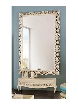 Commode basse  2 portes coulissantes et miroir de luxe