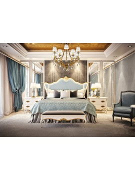 Chambre adulte Or bleu Glamour