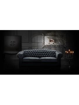 Canapé Milan et meuble bar et miroir de luxe