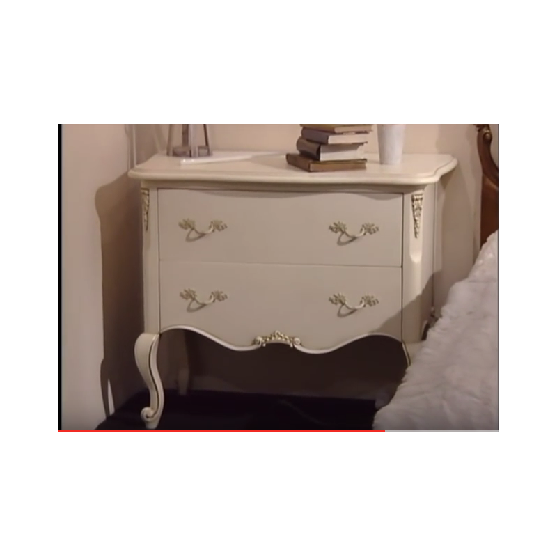 commode baroque de luxe blanche 2 tiroirs. Black Bedroom Furniture Sets. Home Design Ideas