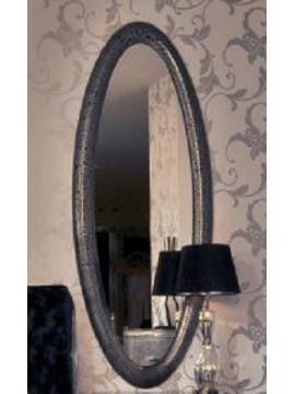 Miroir oval gris Milan