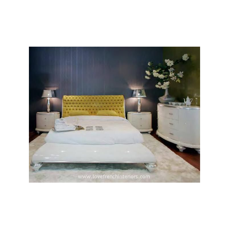 lit et t te de lit de luxe capitonn e beige 2 personnes milan. Black Bedroom Furniture Sets. Home Design Ideas