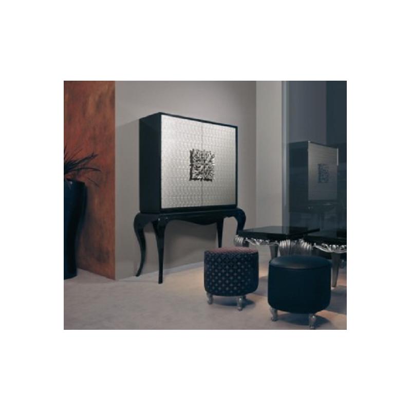 meuble bar de luxe gris 2 portes ivoire clairage led de salle manger. Black Bedroom Furniture Sets. Home Design Ideas