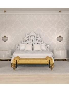 Lit baroque blanc Milan