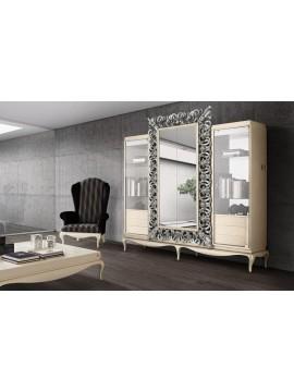 Bibliothèque meuble tv miroir Luxe