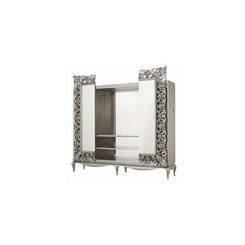 Biblioth que avec meuble tv miroir de luxe for Tlvision miroir