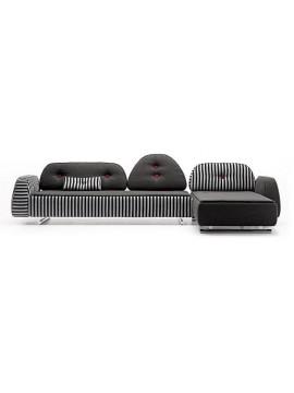 Canapé avec chaise longue design Sonora