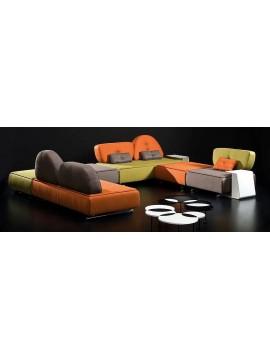 Canapé d'angle avec chaise longue design Sonora