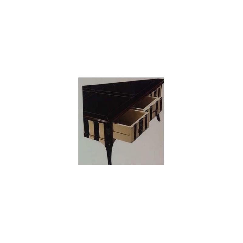 Table basse antiquaire carr e 3 tiroirs cavell meuble de salon for Meuble antiquaire