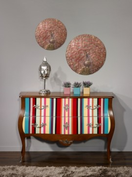 Commode Antiquaire Multicolore