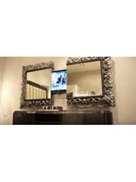 miroir de luxe or ou argent pour un int rieur resplendissant commode et console. Black Bedroom Furniture Sets. Home Design Ideas