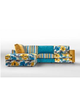 Canapé avec chaise longue Patchwork