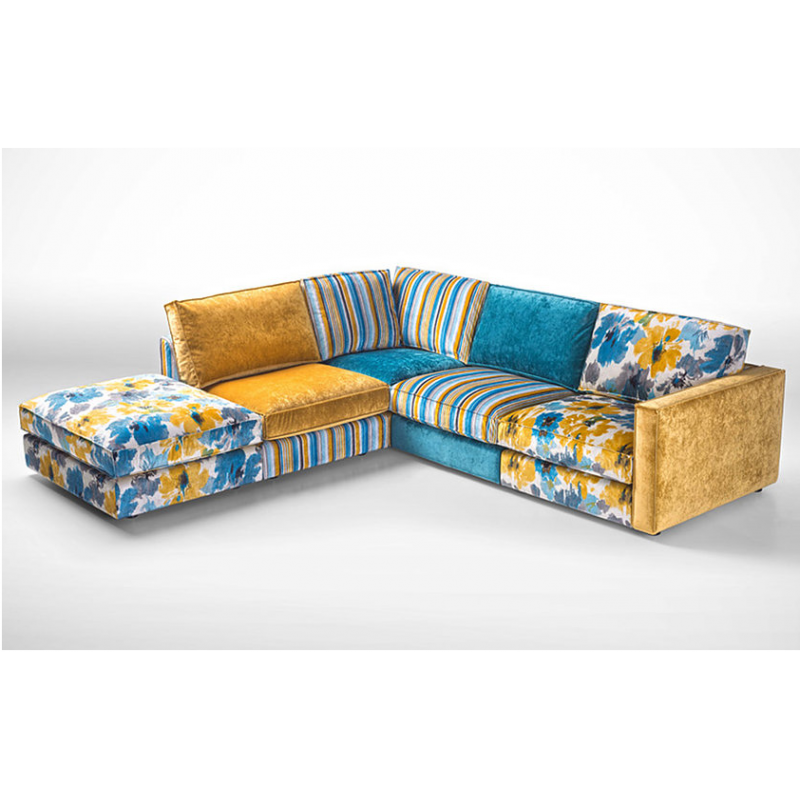 Convertible chaise lounge for Canape patchwork