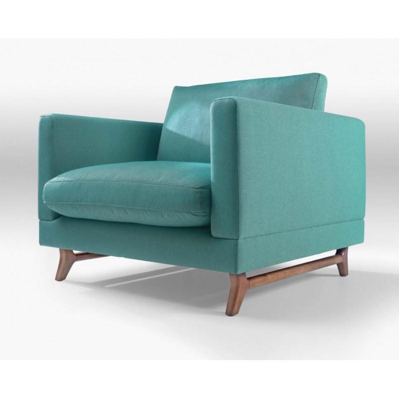 fauteuil tissu bleu rangers. Black Bedroom Furniture Sets. Home Design Ideas