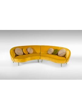 Canapé vintage Duo jaune