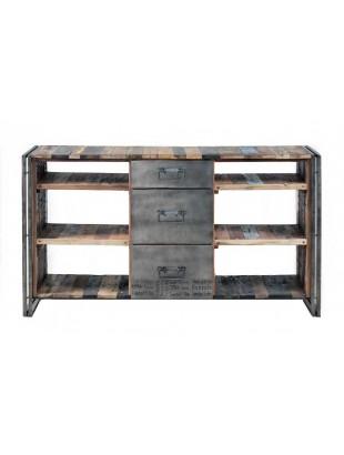 http://www.commodeetconsole.com/4814-thickbox_default/buffet-3-tiroirs-niche-industriel-urbain-teck-metal.jpg