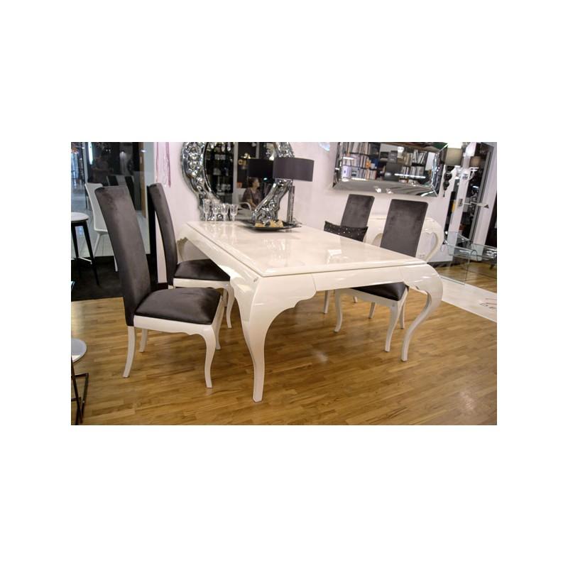 table de s jour de luxe 4 pieds avec ou sans rallonge. Black Bedroom Furniture Sets. Home Design Ideas
