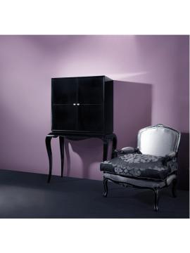 Meuble Bar noir de Luxe Petits tiroirs