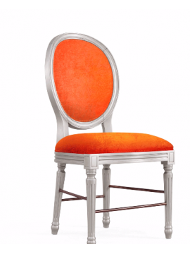 Chaise orange Glamour